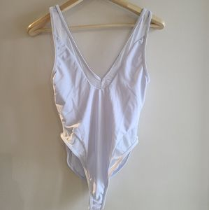 ReVamped White full piece bathing suit